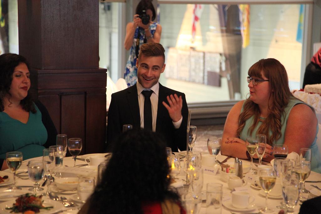 Nick at Meredith's wedding